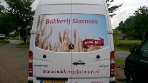 Achterkant van de nieuwe bus